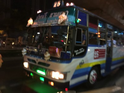 タイのローカルバスの利用方法