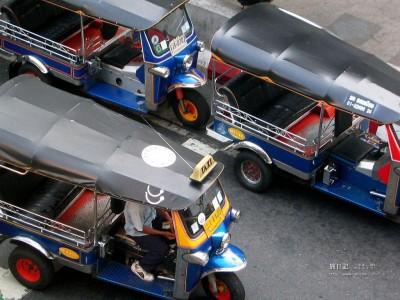 タイならではの乗り物、「トゥクトゥク」